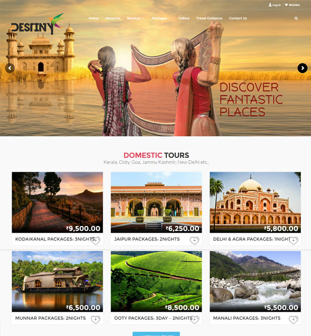 Destiny Tour Operators Website Wordpress
